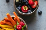 fruits and vegetables for school lunches and healthy after school snacks