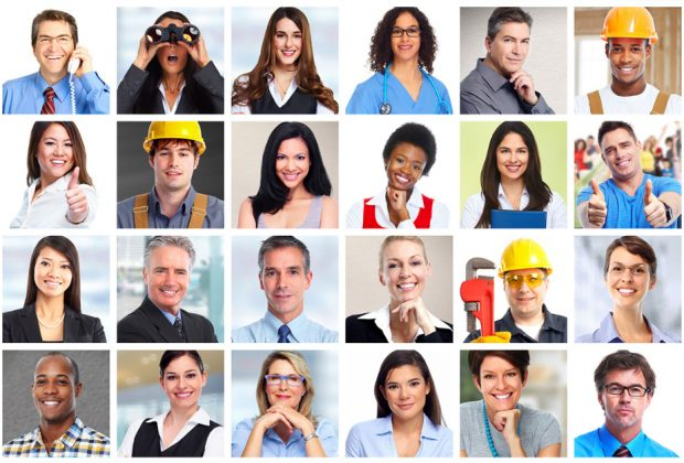 Employee headshots from a variety of industries